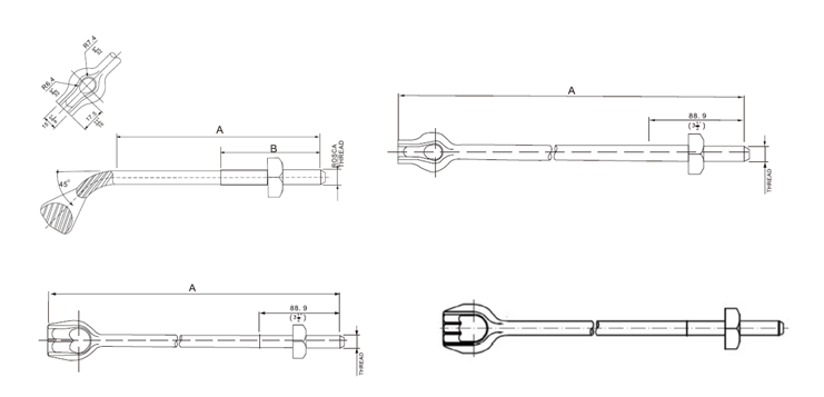 Anchor Rod for Pole Line Hardware