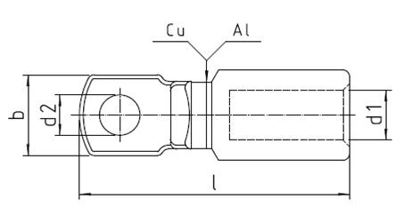 CAL-D Bimetallic Cable Lugs